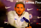 The Chelsea manager, Frank Lampard